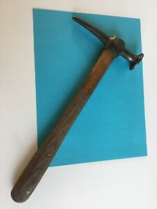 Vintage Proto Mfd Usa 1428 Auto Body Pecking Hammer Crowned Face Wood Handle