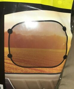 Car Window Sun Shade Living Solutions Black Mesh Protector Foldable 2 Pack