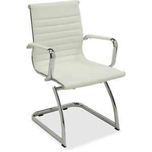 Lorell Guest Midback Chair 23 3 4 x23 1 2 x35 1 2 We Leather 59504