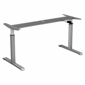 Alera Pneumatic Height adjustable Table Base 26 1 4 To 39 3 8 High Gray