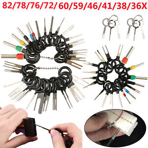 76 72 60pcs Wire Terminal Removal Tool Car Electrical Wiring Crimp Connector Pin