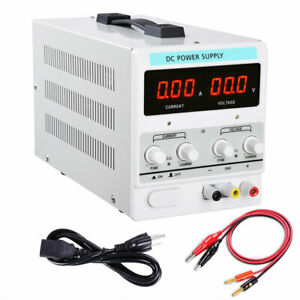 Power Supply 30v 5a 110v Precision Variable Dc Digital Adjustable Lab W clip