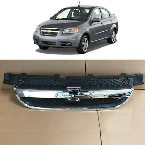 Front Upper Bumper Grille Grill Assembly Chrome For 2007 2011 Chevrolet Aveo