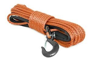 Rough Country Synthetic Winch Rope Orange 3 8 X 85 16 000 Lb Rating Rs111