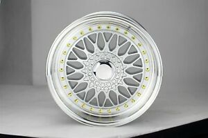 Set Of Four 4 17x7 5 Rs Style Silver gold Rims Wheels Fits Volkswagen Vw 5x100