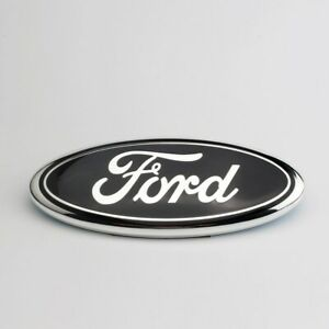9 Inch Black Chrome 2005 2014 Ford F150 Front Grille Tailgate Oval Emblem