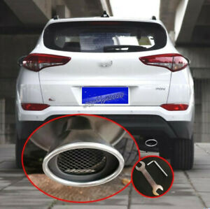 For Hyundai Tucson 2016 2017 2018 Stainless Rear Exhaust Muffler Tip End Pipe