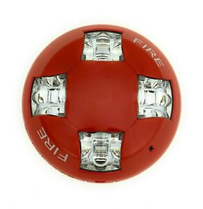 Edwards Gcvrf Ceiling Strobe 15 115cd Red With Fire Marking
