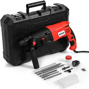 1 2 Electric Rotary Hammer Drill 3 Mode Sds plus Chisel Kit 1100w W bits Case