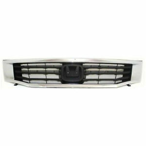 New Grille Black With Chrome Frame Fits Honda Accord 2008 2010 Ho1200222