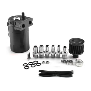 Baffled Universal Oil Catch Can Reservoir Tank For Ford Mustang Chevy Captiva