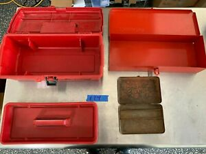 Snap On Tools Blue Point Vintage Boxes Bins 3 Pc For Storing Tools 114