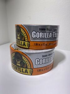 2 Pack Gorilla 6071202 Silver Duct Tape 1 88 In X 12 Yd Fast Free Shipping
