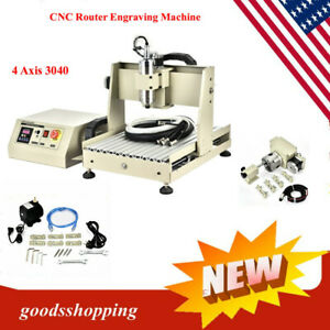 4 Axis 3040 Diy Usb Port Cnc Router Kit Wood Metal Engraver Milling Machine
