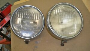 1930 31 Ford Model A Original Headlight Assemblies With Ford Script Lenses