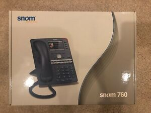 Snom 760 Voip Poe Office Phone Brand New In Box Original Packaging
