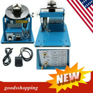 10kg Rotary Welding Positioner Turntable Table 2 5 3 Jaw Lathe Chuck Us