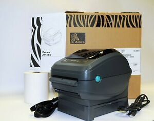 Zebra Zp450 0502 0004a Ctp High Speed Direct Thermal Label Printer W Roll