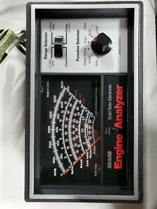 Sears Vintage Engine Analyzer 28 2163 For 12 Volt Ignition Systems Box Manual