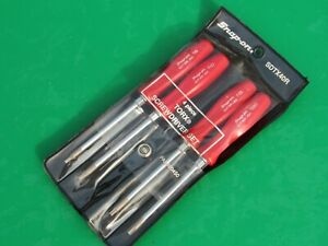 Snap On Red Handle 4 Piece Mini Torx Driver Set T8 T10 T15 T20 Sdtx40 Sdtx40r