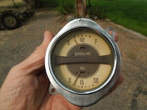 1935 36 37 Chevrolet Gas And Oil Pressure Gauge Assembly Nice Original