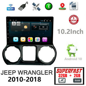 10 2 Android For Jeep Wrangler 2011 2018 Car Gps Navigation Radio Stereo 2g 32g