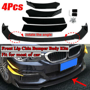 Universal Front Bumper Lip Body Kit Spoiler For Honda Civic Bmw Mazda Gmc