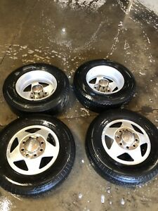 Set Of 4 Eagle Allow 16 8 Lug Dually Front rear Wheels Truck Chevy Ford Dodge