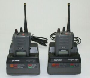 Lot Of 2 Harris P5300 Two Way Portable Multi mode Radio 800mhz With Charger