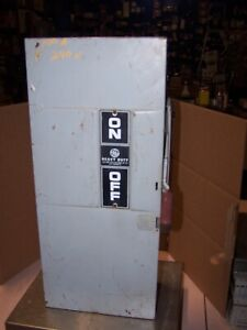 Ge 100 Amp Fusible Safety Switch 240 Vac 30 Hp 3 Phase Th4323 Nema 1 Indoor
