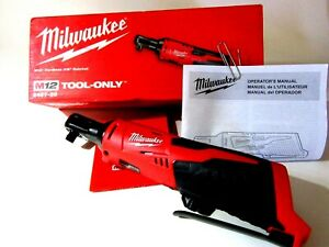 Milwaukee M12 2457 20 3 8 Inch Cordless Ratchet With Red Lithium Xc3 0 Battery