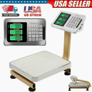 80kg 176lbs Weight Computing Floor Platform Scale Postal Shipping Us Charger