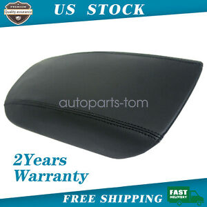 For 13 16 Ford Fusion Center Console Armrest Lid Leather Synthetic Cover Black