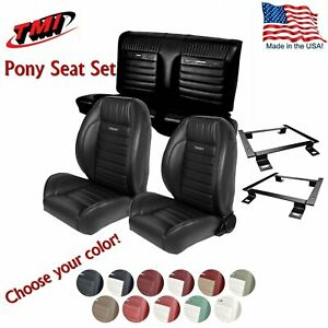 Tmi Pro Series Pony Complete Bucket Seat Set For 1964 1966 Mustang Coupe