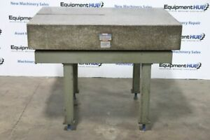 Rock Of Ages 48 X 36 X 8 1 4 Granite Surface Plate With Stand 0003 Accuracy