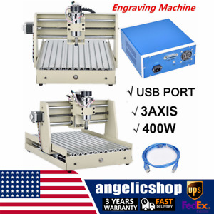 Usb 400w Cnc Router 3040 3axis Engraver Engraving Milling Machine Desktop Diy Us