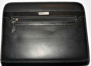 Classic Franklin Covey Faux Leather Planner Binder Organizer Black