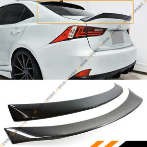 For 14 19 Lexus Is300 Is350 Is200 Ar Style Carbon Fiber Trunk Lid Roof Spoiler