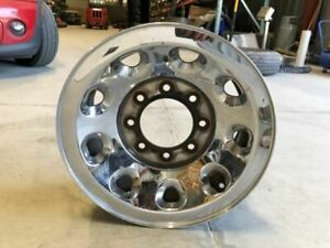 01 04 Ford F350 Super Duty Used 16x7 Steel Chrome Wheel Rim 8 Lug 9 Hole