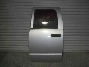 Used 04 Dodge Ram Quad Cab Left Rear Door Silver psb Shipped 27329