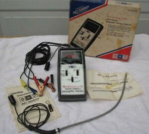 Vtg St 129 Ac Delco Tune Up Tester Tach Dwell Rpm W Magnetic Timing Analyzer