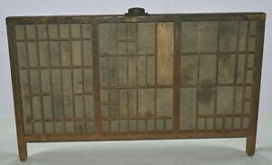 Vintage Printer s Letterpress Type Tray drawer California Job Case With legs
