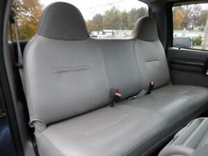 Solid Gray Mesh Fabric Bench Seat Cover Fit s Ford F150 Truck s 92 04