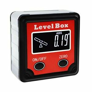 Digital Angle Finder Gauge Magnetic Protractor Level Box Inclinometer Bevel With