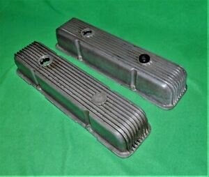 1960s Vintage Cal Custom 9 Fin Small Block Chevy Valve Covers Gardena Ca