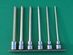 Snap On 3 8 206efaml 6 Pc Metric Extra Long Hex Bitocket Driver Set 4mm 8 10mm