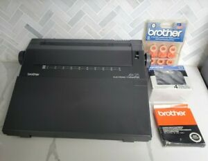 Portable Typewriter Brother Ax 25 Electronic Electric Word Processor With Extras