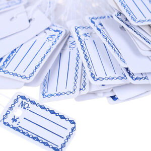 100pcs New Merchandise Price Tags Hang String Jewelry Price White With Stri Ew