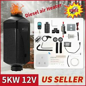 Air Diesel Parking Fuel Heater 12v 5kw Lcd Switch 10l Tank For Truck Boat