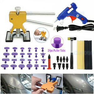 Car Body Paintless Dent Repair Removal Tool Kit Golden Puller Lifter Pulling Us